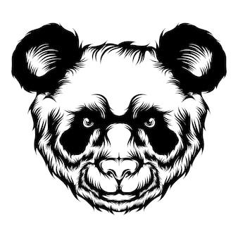 Die animation des niedlichen pandas für die tattoo-ideen