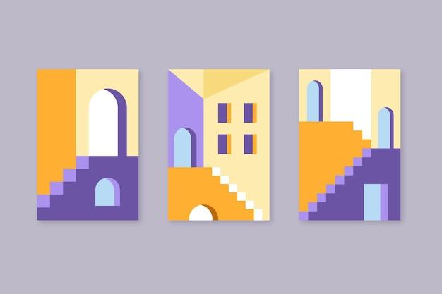 Die architektur umfasst eine minimale vorlagensammlung