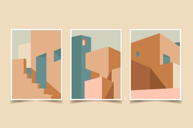 Die architektur umfasst minimale vorlagen