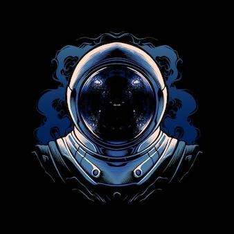 Die astronautenhelm-vektorillustration