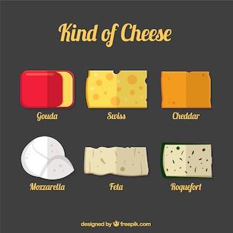 Die auswahl an leckeren käse