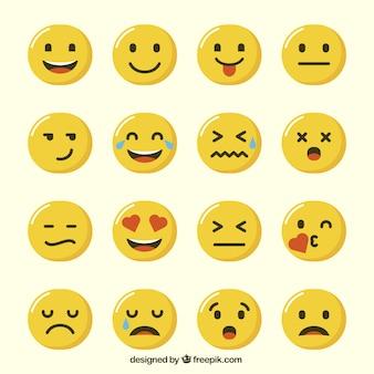 Die auswahl der lustigen emoticons