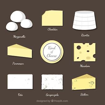 Die auswahl der verschiedenen käsesorten