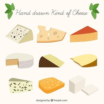 Die auswahl von leckeren käse