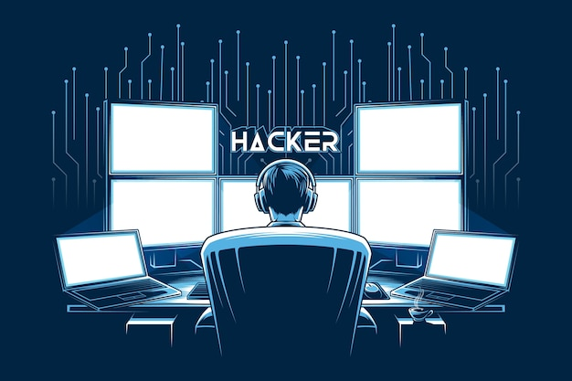Die beste hacker-illustration