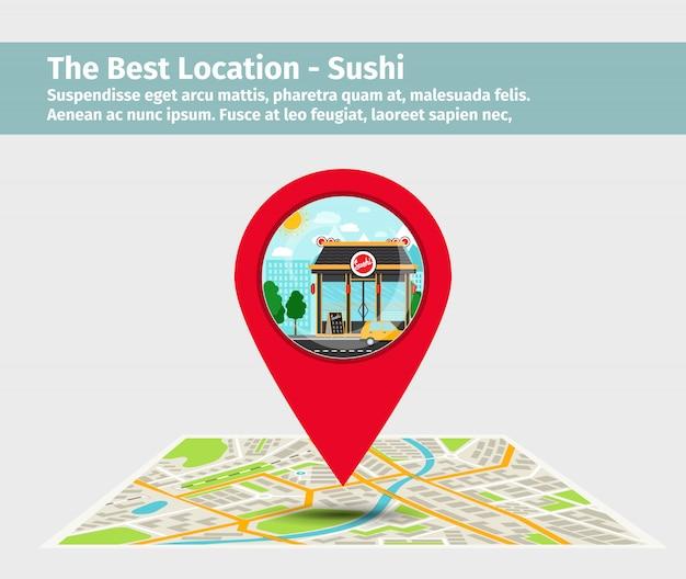 Die beste lage sushi