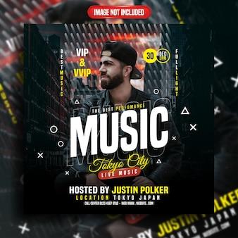 Die beste performance-live-musik-social-media-vorlage