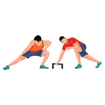 Die bewegung eines mannes, der sportillustration spielt