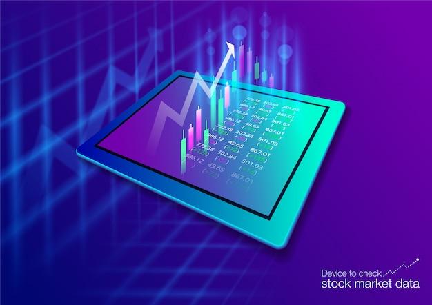 Die börse auf dem touchscreen