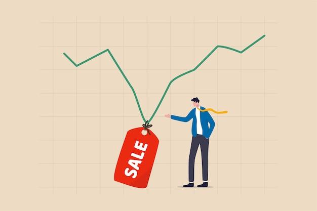 Die börse wird zum verkauf angeboten, wenn der markt in die wirtschaftskrise eintaucht