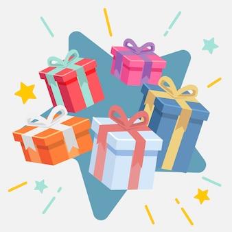 Die box geschenk für verkauf flachen stil weiße version