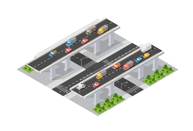 Die brücke skyway der städtischen infrastruktur ist