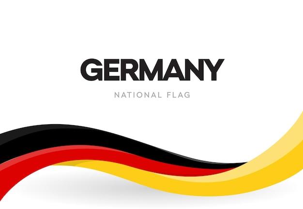 Die bundesrepublik deutschland schwenkt flagge