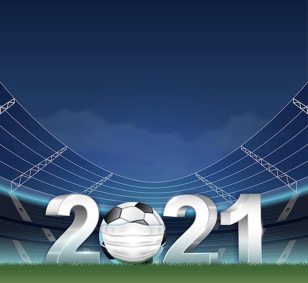 Die covid-19-pandemie von 2021 hat den fußball gestört