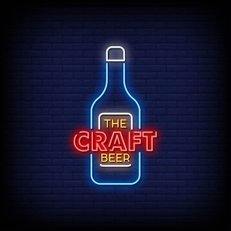 Die craft beer logo leuchtreklamen