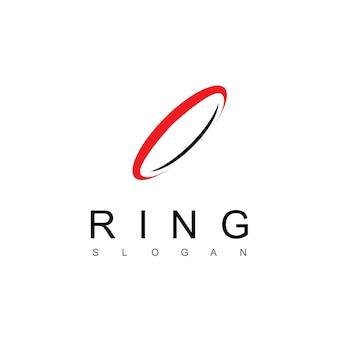 Die designvorlage für das ring-logo