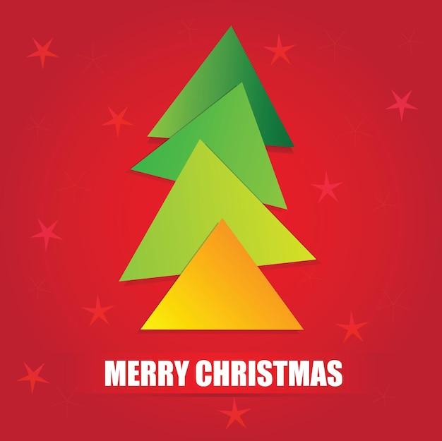 Die einfachen geometrischen formen des dreiecks bilden einen modernen, stilisierten weihnachtsbaum