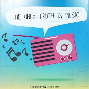 Die einzige wahrheit ist musik vektor