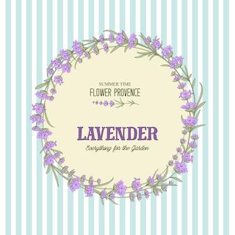 Die elegante karte des lavendels.