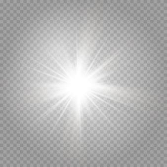 Die explosion eines leuchtenden sterns und strahlender blendung