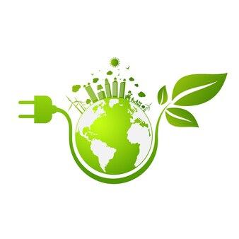 Die freundliche stadt der grünen stadt retten das weltkonzept