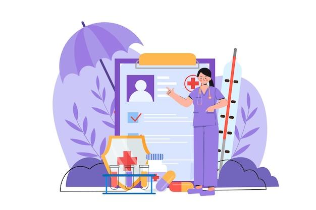 Die gesundheitsbranche Premium Vektoren