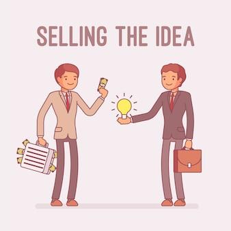 Die idee verkaufen