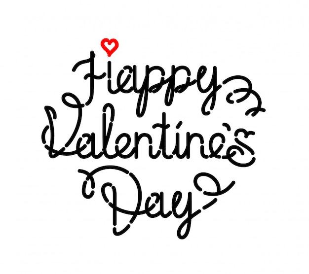 Die inschrift ist valentinstag