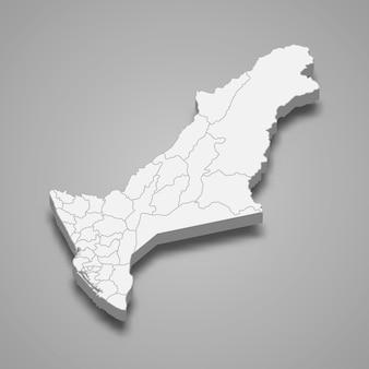 Die isometrische karte der stadt kaohsiung ist eine region taiwans