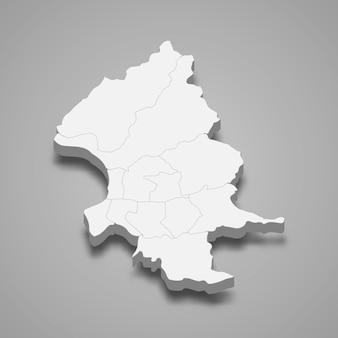 Die isometrische karte der stadt taipeh ist eine region taiwans