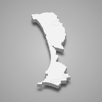 Die isometrische karte von callao ist eine region in peru