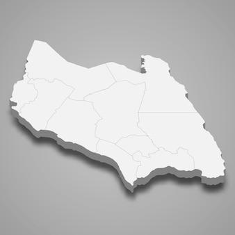 Die isometrische karte von johor ist ein bundesstaat malaysia