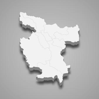 Die isometrische karte von san martin ist eine region in peru