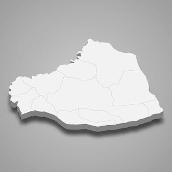 Die isometrische karte von sanliurfa ist eine provinz der türkei