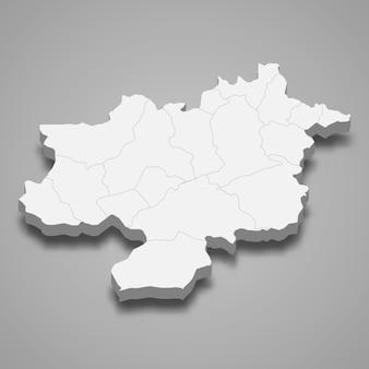 Die isometrische karte von sivas ist eine provinz der türkei