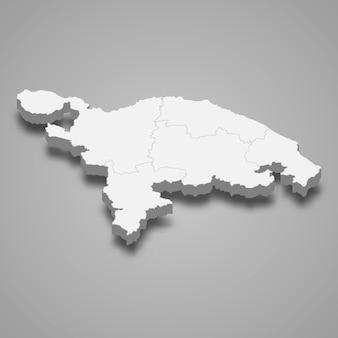 Die isometrische karte von thurgau ist ein kanton der schweiz