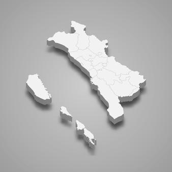 Die isometrische karte von west-sumatra ist eine provinz indonesiens