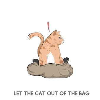 Die katze aus dem sack lassen