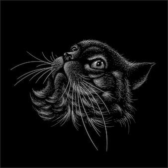 Die katzenkopfillustration