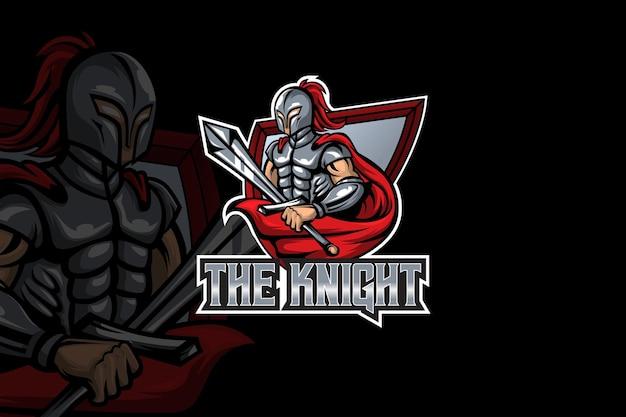 Die knight-esport-logo-vorlage