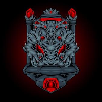 Die königskobra-monster