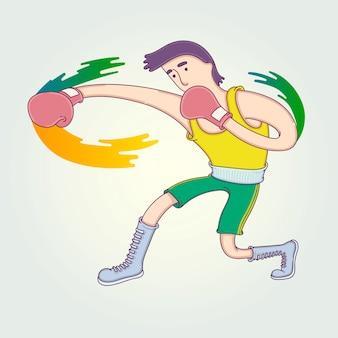 Die konkurrenz des athleten.