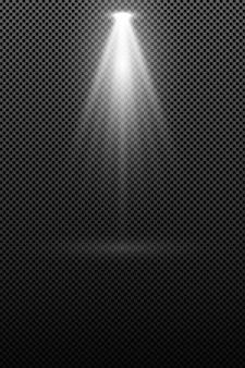 Die lampe, die eine weiße lumineszenz ausstrahlt, isoliert auf transparentem hintergrund. lichteffekt.