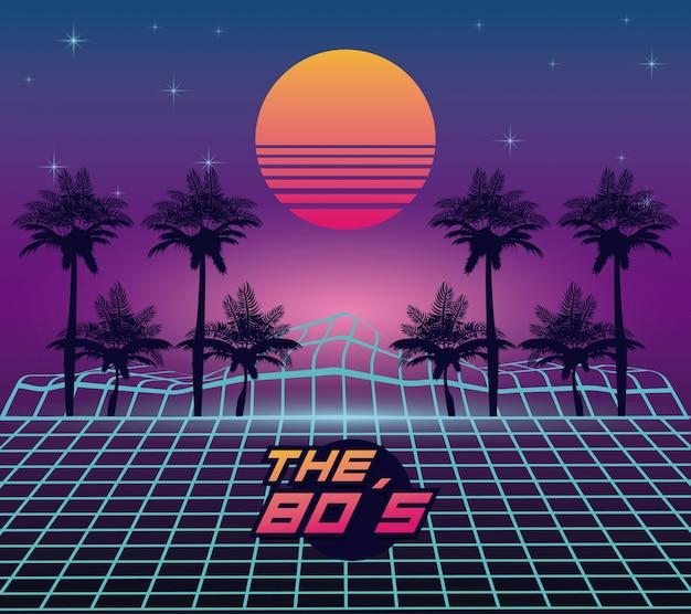 Die landschaft der 80er jahre