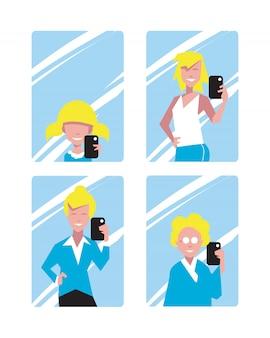 Die leute machen außergewöhnliche selfies