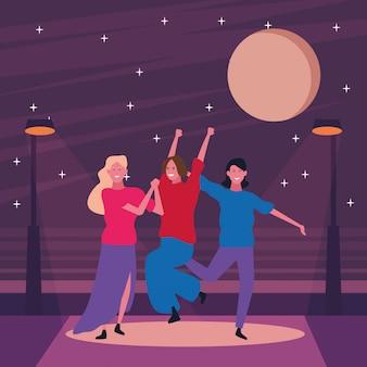 Die leute tanzen und haben spaß