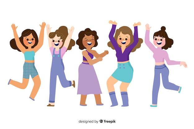 Die leute tanzen