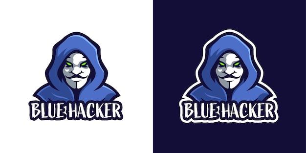 Die logo-vorlage für das hijacker-maskottchen