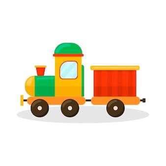 Die lokomotive. kinderspielzeug. symbol auf weißem hintergrund. für ihre gestaltung.