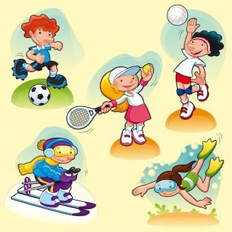 Die menschen praktizieren sport
